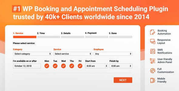 Bookly PRO –Appointment Booking and Scheduling Software System