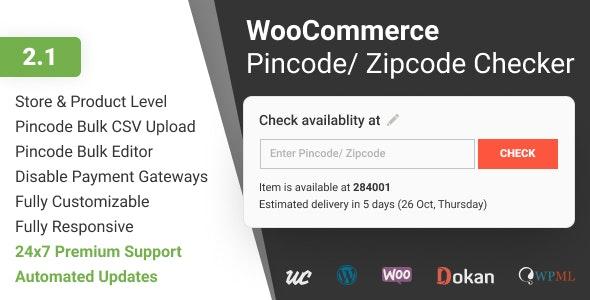 WooCommerce Pincode/ Zipcode Checker v2.1.0