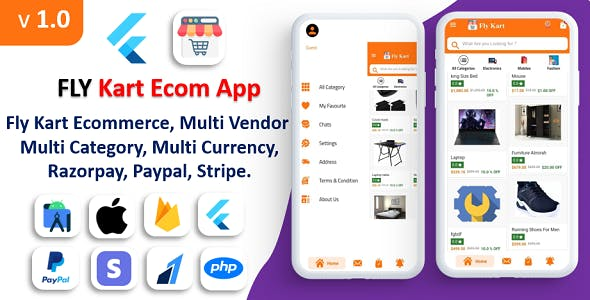 Flykart eCommerce app | Multi-Vendor E-commerce | Complete eCommerce  App | Multi Payment Gateways