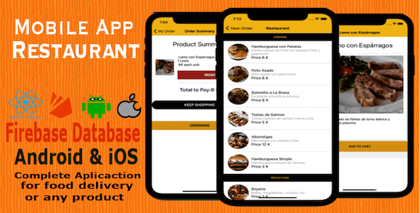 Restaurant App Fast Food - CodeCanyon Item for Sale