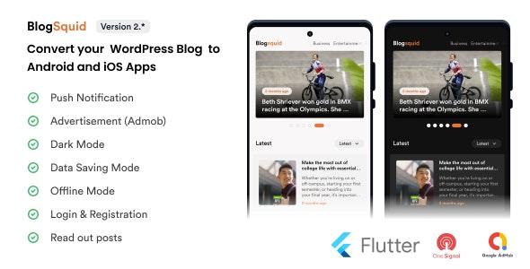 Blogsquid - Wordpress Blog Mobile App - CodeCanyon Item for Sale