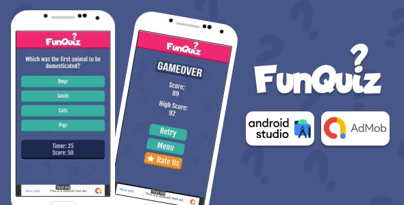 Fun Quiz Game Android Studio Project with AdMob Ads + Ready to Publish