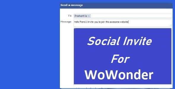 Social Invite For WoWonder