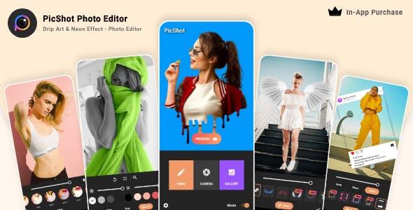 PicShot Photo Editor - Drip Art & Neon Effect - Photo Editor - In-App Purchase