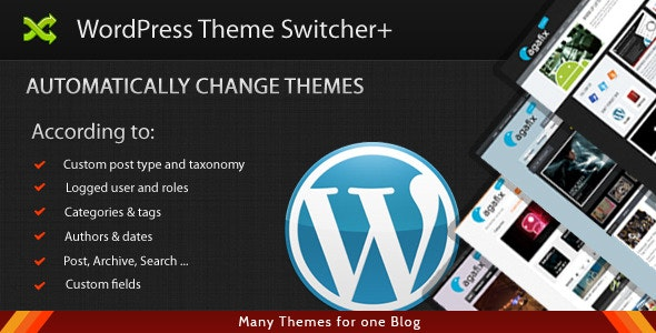 WordPress Theme Switcher+ - CodeCanyon Item for Sale