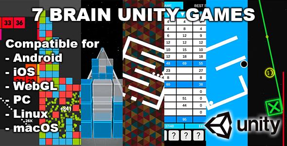 7 Brain Unity Games Bundle