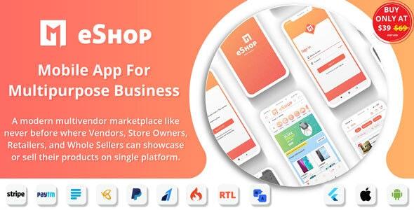 eShop - Flutter Multi Vendor eCommerce Full App - CodeCanyon Item for Sale