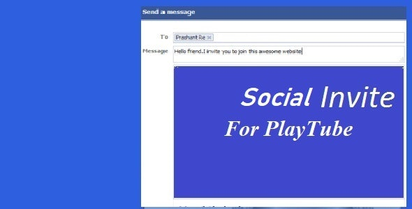 Social Invite For Playtube - CodeCanyon Item for Sale