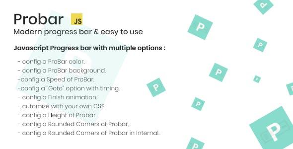 ProBar - A modern progress bar with Timer.