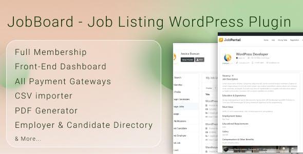 JobBoard Job Listing WordPress Plugin
