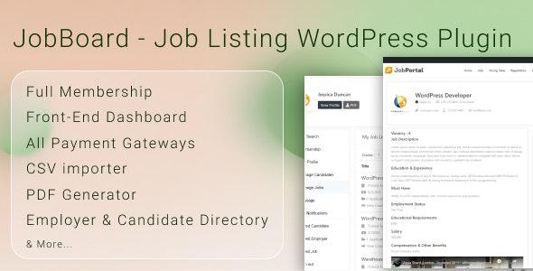 JobBoard Job Listing WordPress Plugin - CodeCanyon Item for Sale