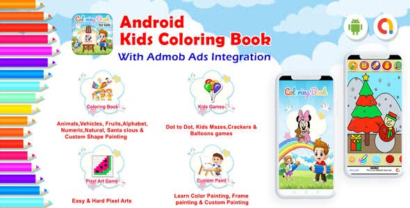 Android Kids Coloring Book - Games for Kids, Painting, Glow Draw (Android 11)