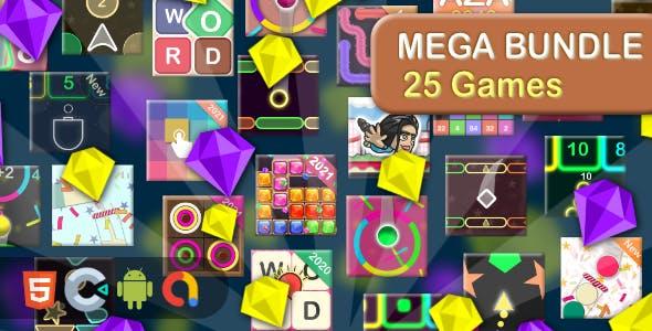 Mega Casual Game bundle - 25 Games(Html5 + Construct 3 +Mobile)