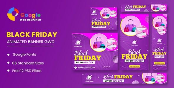 Black Friday Sale HTML5 Banner Ads GWD