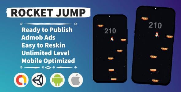 Rocket Jump (Unity+Admob+Android+IOS)