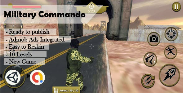 Military Commando Army (Unity - Admob)