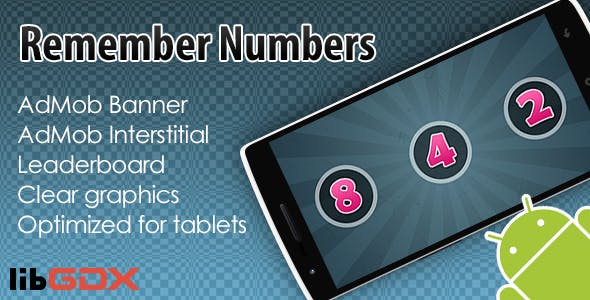 Remember Numbers with AdMob and Leaderboard