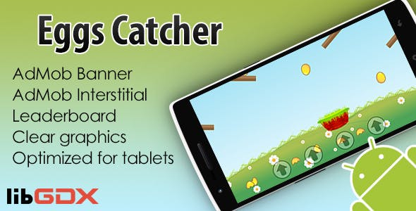 Eggs Catcher with AdMob and Leaderboard