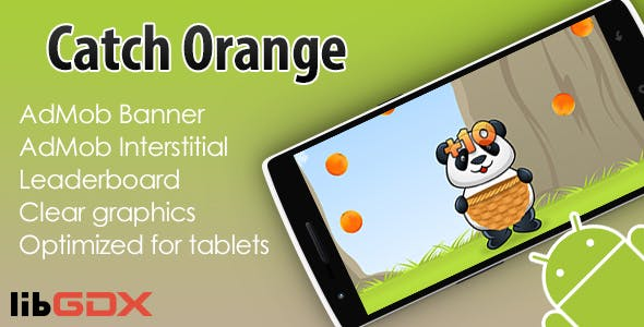 Catch Orange with AdMob and Leaderboard