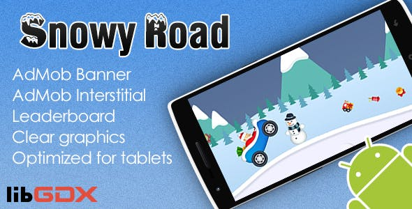 Snowy Road with AdMob and Leaderboard