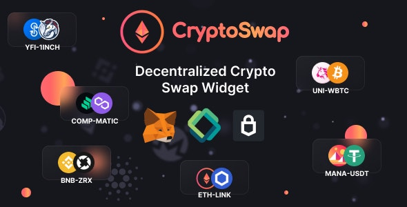 Crypto Swap - Cryptocurrency Exchange Script and Widget on Ethereum Blockchain - CodeCanyon Item for Sale