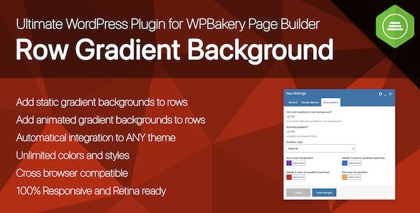 Ultimate Row Gradient Background for WPBakery Page Builder WordPress plugin
