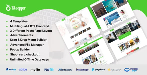 Blogger - Personal Blog Website CMS