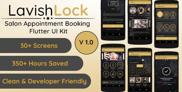 Lavish Lock - Flutter App UI Kit for Salon Appointment booking