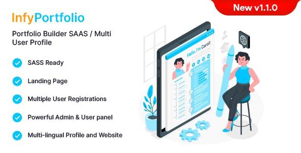 InfyPortfolio-Saas - Laravel Saas Personal Portfolio / Resume / CV Website Theme