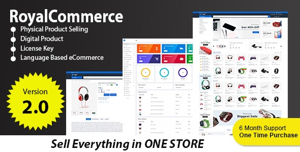 RoyalCommerce - Laravel Ecommerce System with Physical and Digital Product Selling - CodeCanyon Item for Sale