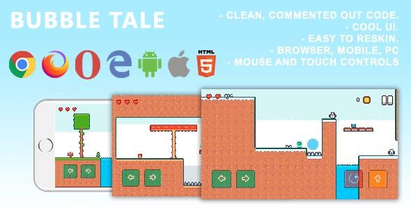 Bubble Tale. Mobile, Html5 Game .c3p (Construct 3)