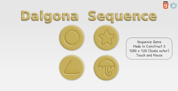 Dalgona Sequence - HTML5 Sequence game