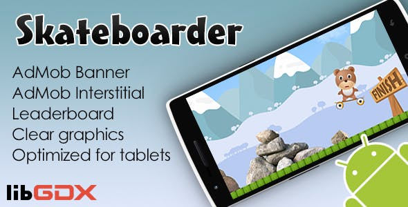 Skateboarder with AdMob and Leaderboard