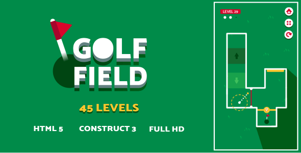 Golf Field - HTML5 Game (Construct3)
