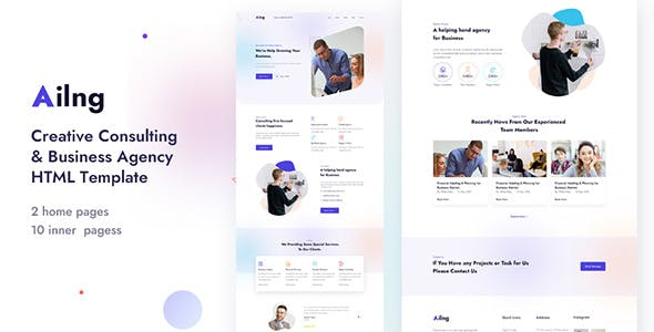 Ailng - Creative Consulting & Business Agency HTML Template