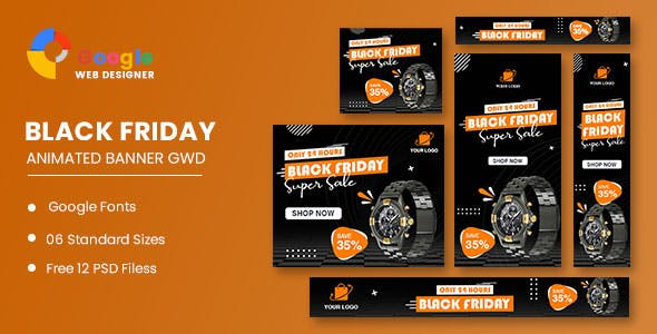 Product Sale Black Friday Banner Set Template
