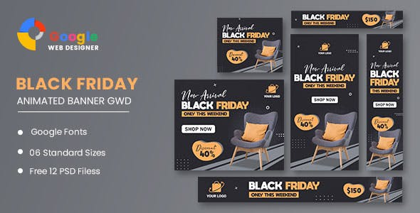 Interior Chair HTML5 Banner Ads GWD