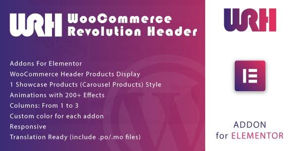 WooCommerce Revolution Header for Elementor WordPress Plugin