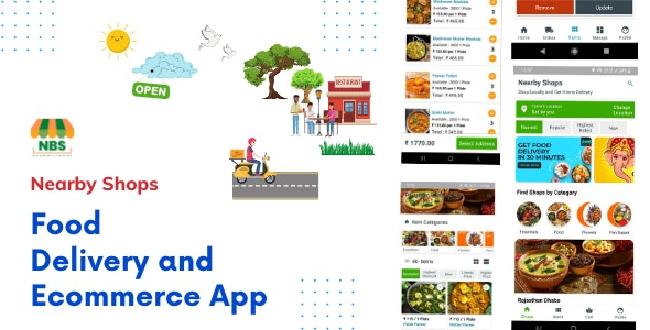 Nearby Shops - Kotlin Java Native Multi-Vendor Food Delivery and Ecommerce App - CodeCanyon Item for Sale