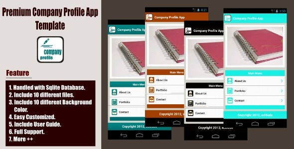Premium Company Profle App Template