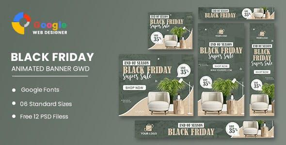 Interior Furniture HTML5 Banner Ads GWD