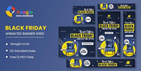 Black Friday Sale Banner HTML5 Banner Ads GWD