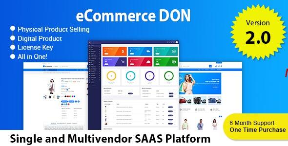 eCommerce DON - Multitenancy Multi vendor and Single vendor Online Store Platform - CodeCanyon Item for Sale