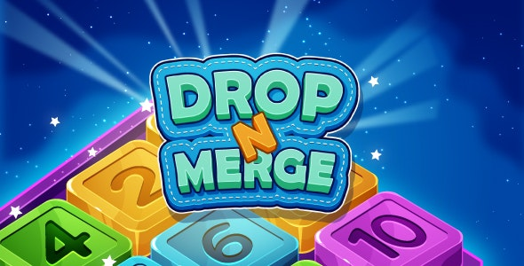 Drop N Merge - HTML5 Puzzle Game (Phaser 3) - CodeCanyon Item for Sale