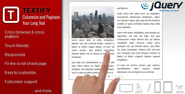 Textify - Columnize and Paginate Your Long Text