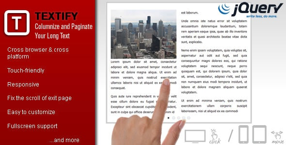 Textify - Columnize and Paginate Your Long Text - CodeCanyon Item for Sale