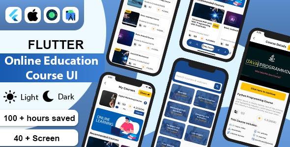 Flutter Online Education Course UI Kit Template