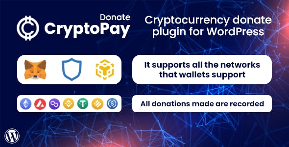 CryptoPay Donate - Cryptocurrency donate plugin for WordPress