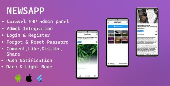 NEWSAPP - Flutter News App with Admin Panel
