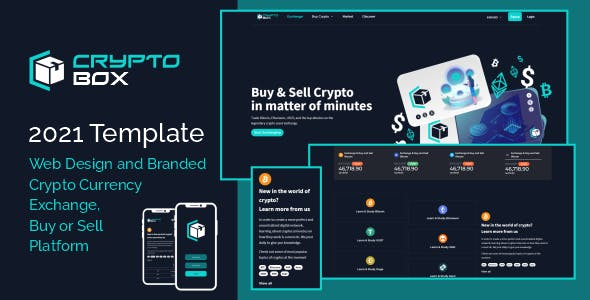 CryptoBox Exchange & Buy and Sell - Landing Page